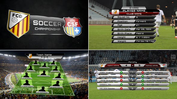 Thumbnail for Broadcast Design - Complete On-Air Soccer Package