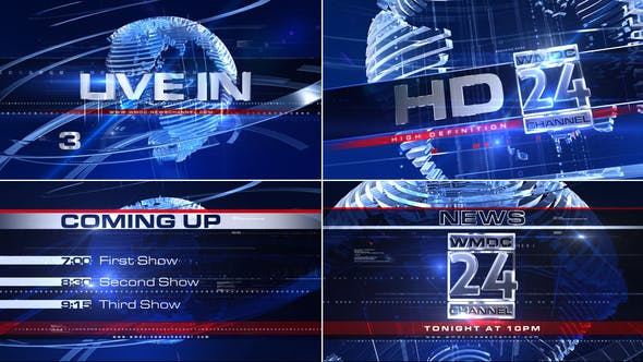 Thumbnail for Broadcast Design - Complete News Package 1