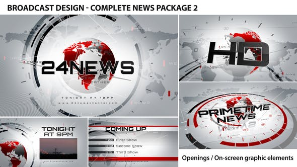 Thumbnail for Broadcast Design - Complete News Package 2