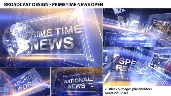 Thumbnail for Broadcast Design - Primetime News Open