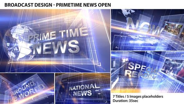 Cover Image for Broadcast Design - Primetime News Open