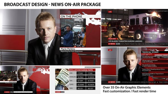 Thumbnail for Broadcast Design - News On-Air Package