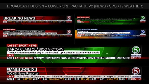 Thumbnail for Broadcast Design - News Lower Third Package2