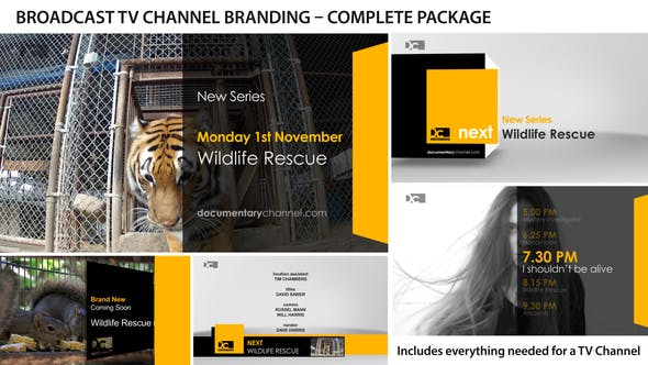 Thumbnail for Broadcast Design - TV Channel Branding 1