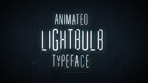 Animated Lightbulb Typeface