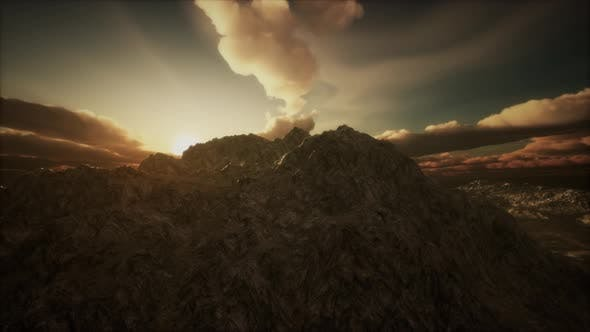Thumbnail for Sun Rays Over Mountains in a Valley