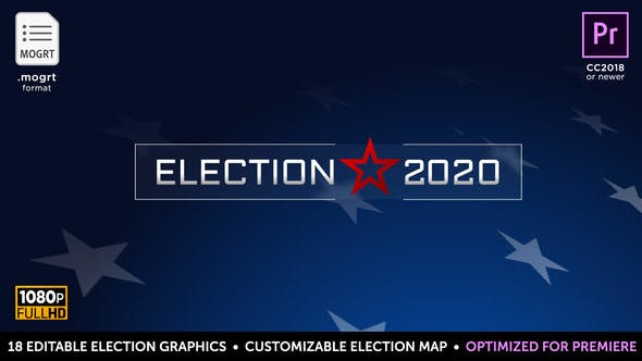 Thumbnail for Election Essentials 2020 | MOGRT for Premiere