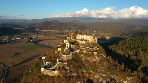 Aerial View Of Wellknown Medieval Castle Hochosterwitz 8