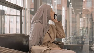 Arabic Woman Meeting with Friend at Shopping Center