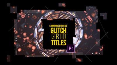 Glitch Grid Titles