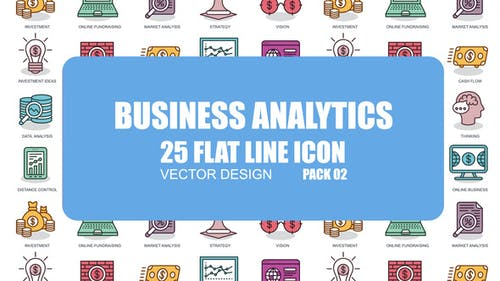 Business Analytics - Flat Animation Icons