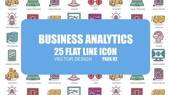 Thumbnail for Business Analytics - Flat Animation Icons
