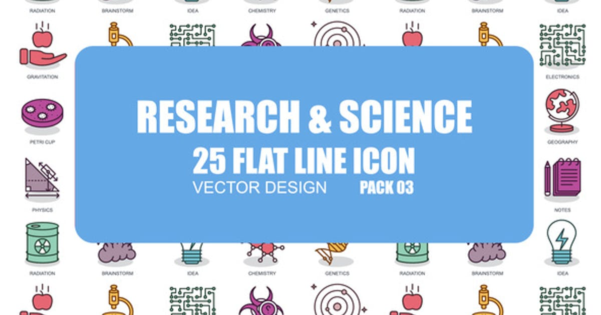 Research And Science - Flat Animation Icons