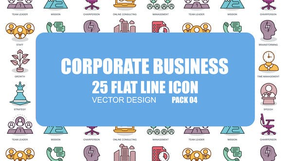 Thumbnail for Corporate Business - Flat Animation Icons