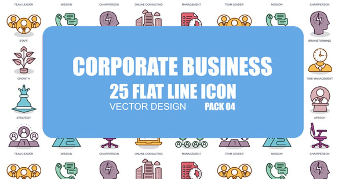 Download Corporate Business - Flat Animation Icons by IconsX