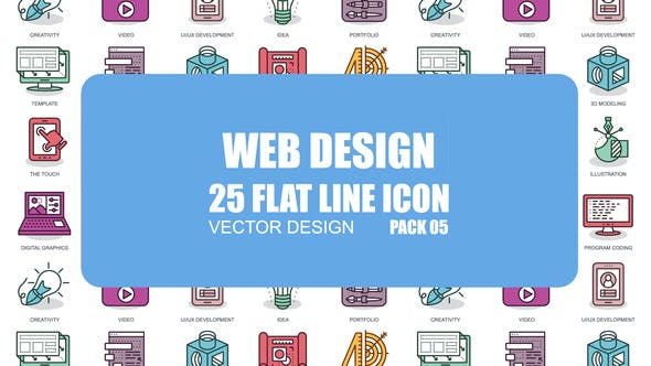 Thumbnail for Web Design - Flat Animation Icons