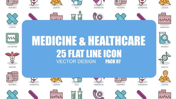 Thumbnail for Medicine And Healthcare - Flat Animation Icons