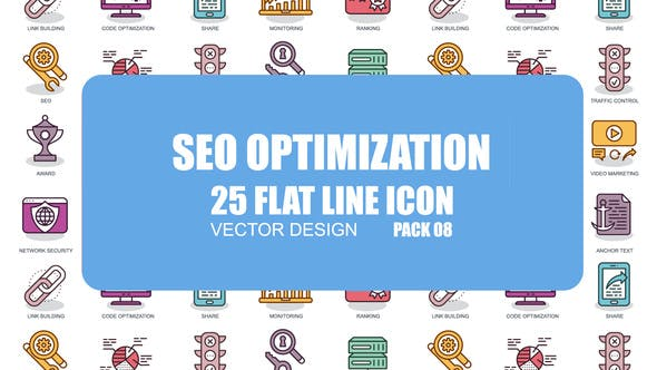 Thumbnail for SEO Optimization - Flat Animation Icons