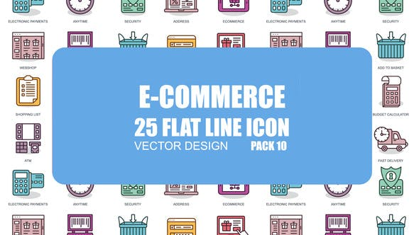 Thumbnail for E-Commerce - Flat Animation Icons