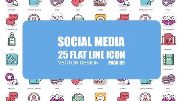 Social Media - Flat Animation Icons