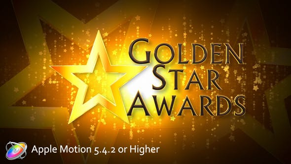 Golden Star Awards Broadcast Pack - Apple Motion