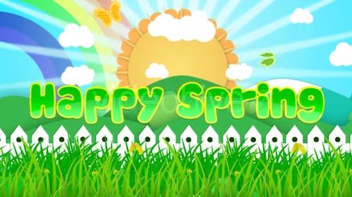 Fröhlicher Frühling