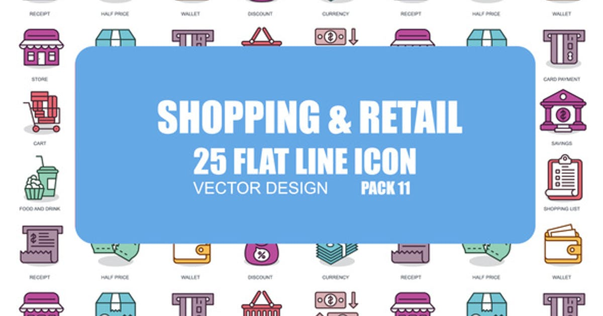 Download Shoping And Retail - Flat Animation Icons by IconsX