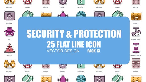 Thumbnail for Security And Protection - Flat Animation Icons