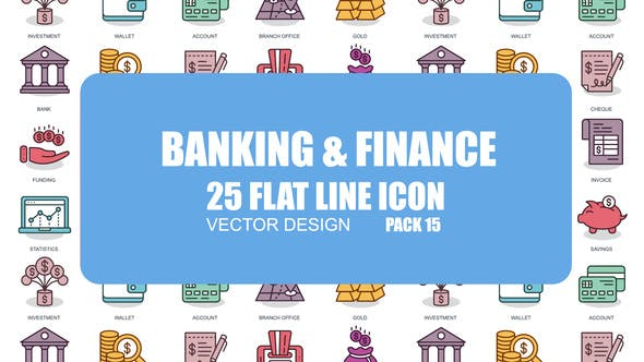 Thumbnail for Banking And Finance - Flat Animation Icons