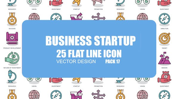 Thumbnail for Business Startup - Flat Animation Icons