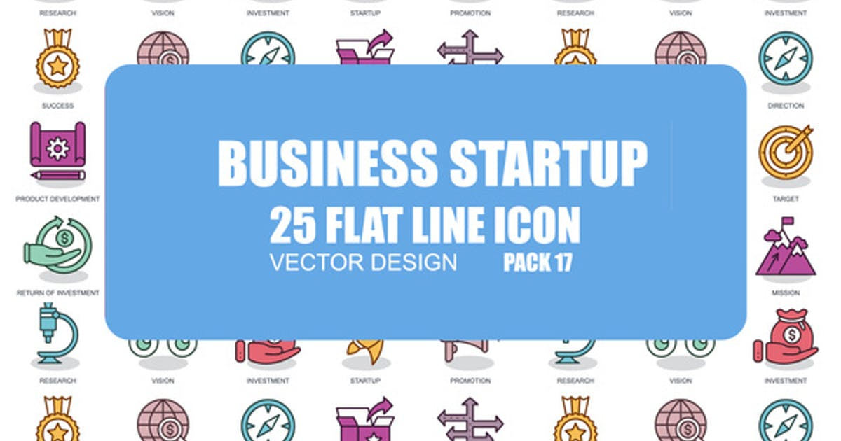 Download Business Startup - Flat Animation Icons by IconsX