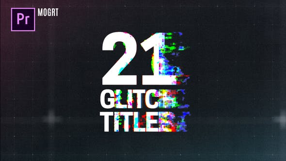 Thumbnail for Glitch Titles for Premiere Pro MOGRT