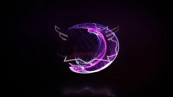 Abstract Glitch Logo