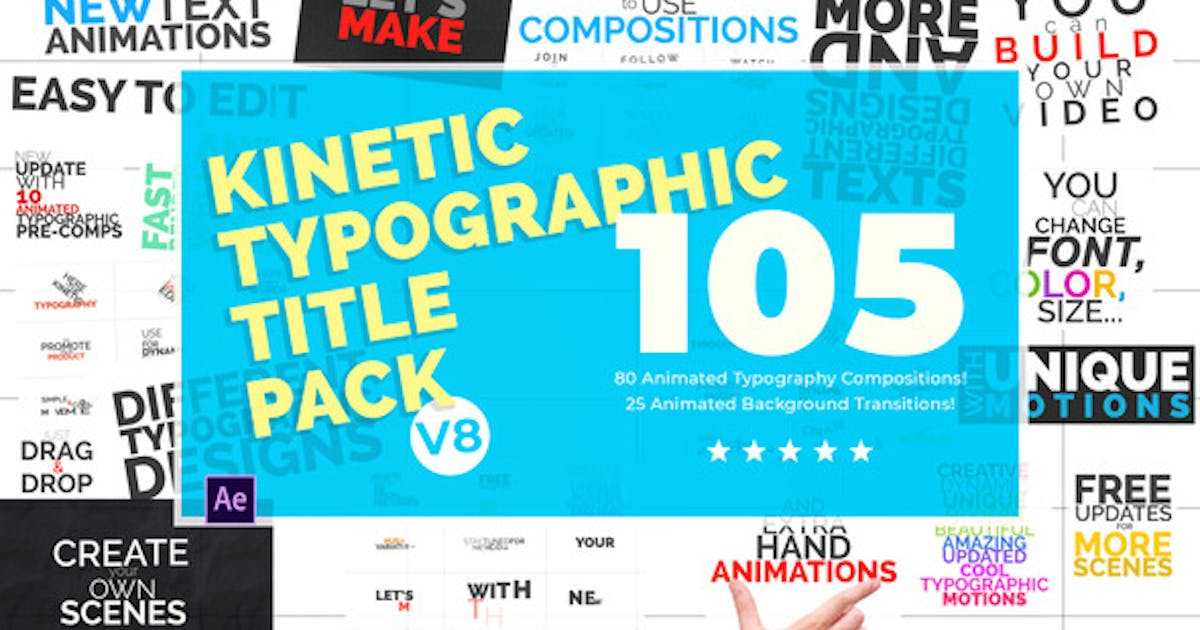 Download Kinetic Typographic Title Pack by tunaxu