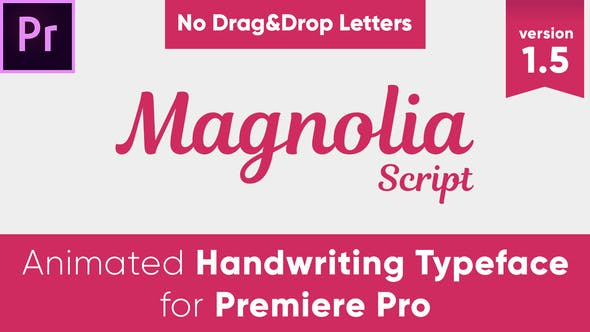 Cover Image for Magnolia - Animated Handwriting Typeface