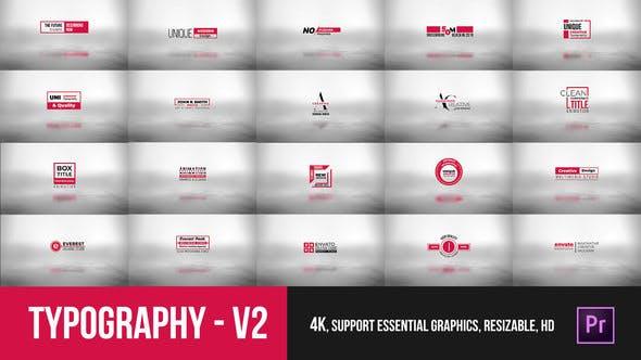 Thumbnail for Typographie Essential V2 — Mogrt