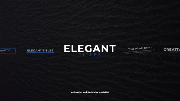 Thumbnail for Elegant Titles