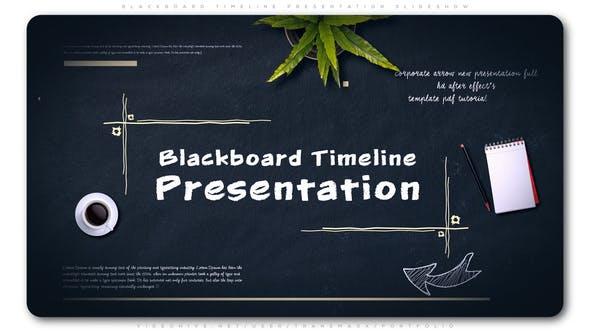 Thumbnail for Blackboard Timeline Presentation Slideshow