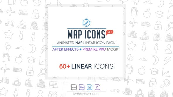 Thumbnail for Map Linear Icon Pack