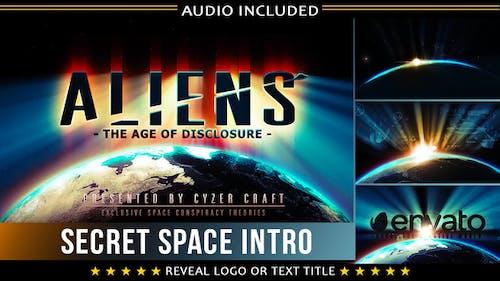 Space Introducción | Extraterrestre Sci-Fi Logo