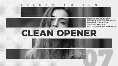 Clean Opener   FCPX or Apple Motion
