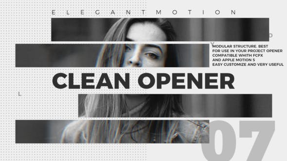 Thumbnail for Clean Opener / FCPX or Apple Motion
