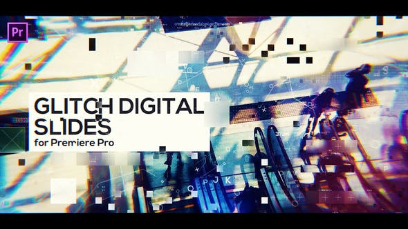 Thumbnail for Glitch Digital Slides for Premiere Pro