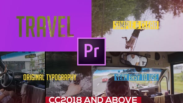 Thumbnail for Colorful Travel Opener // Typography Slideshow