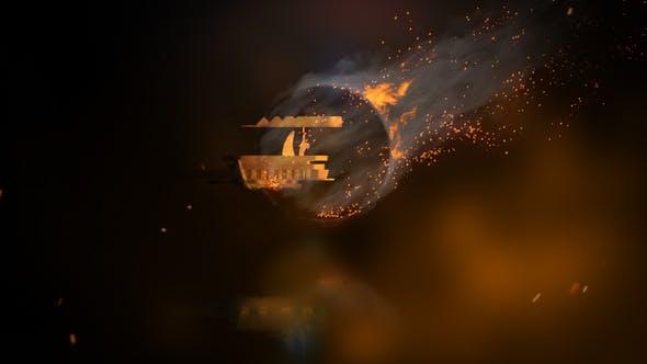 Rotating Fire Logo Reveal