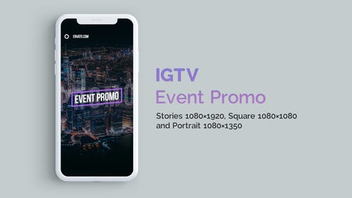 IGTV — Stylish Event Promo | Vertical and Square