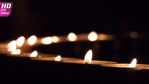 Line Of Candles Disperses The Darkness