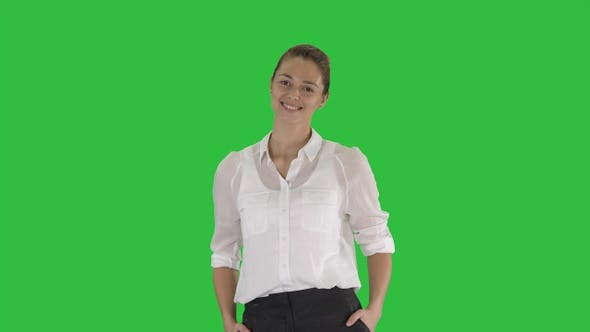 Thumbnail for Looking great Marvelous optimistic business woman smiling