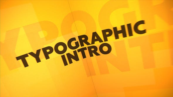 Typographic Intro