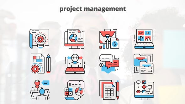 Thumbnail for Project Managment – Thin Line Icons